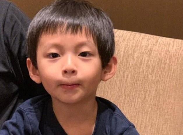 汪小菲罕见晒4岁儿子萌照,汪希箖颜值超高长得像爸爸