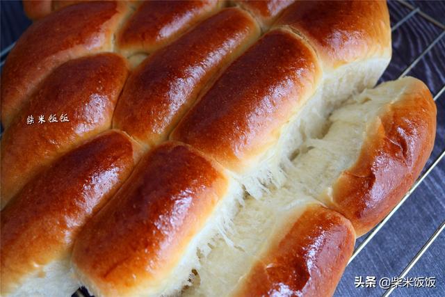 自己做面包柔软拉丝放3天也不硬,比买的好吃