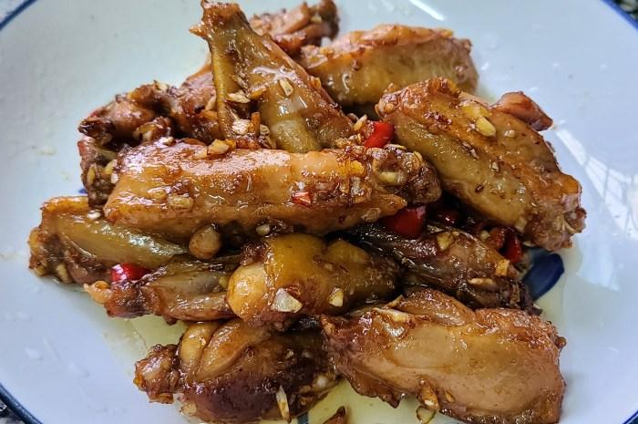 蒜香雞翅,很好吃的一道美食看著就想吃