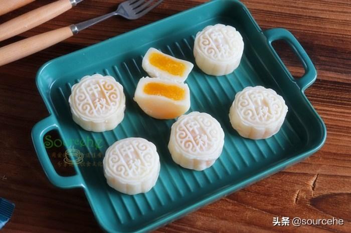 中秋月饼,不用烤箱就能做,冰爽软糯甜而不腻