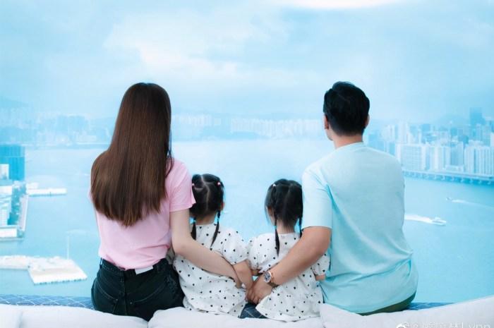 熊黛林郭可頌結婚四年,懷抱雙胞胎女兒畫面有愛