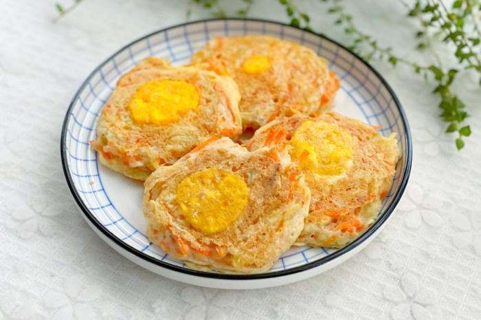 10分鐘快手窩蛋餅,金黃誘人又美味
