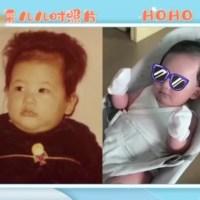 陳小春曬全家福賀新年,二胎兒子正臉首曝光和哥哥長得超像