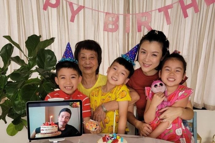 陳茵媺隔空為老公慶生婆婆罕見出鏡,50歲陳豪笑容燦爛幸福難掩