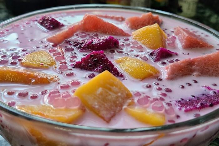 水果西米露,夏天經常吃的一道美食,冰涼好喝味道好