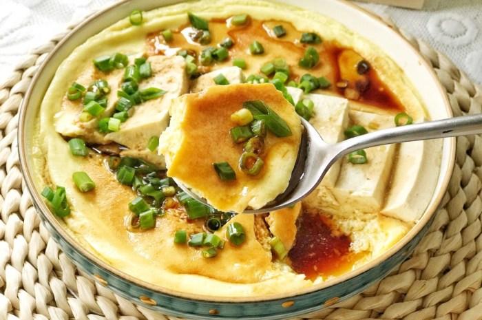 豆腐和鸡蛋完美结合,鲜香入味爽滑好消化