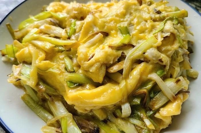 韭黄滑蛋很出名的做法,又嫩又滑又好吃,太香了