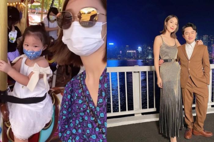 王祖蓝妻子李亚男晒带娃照,和孩子一起骑木马,女儿罕露面唱儿歌