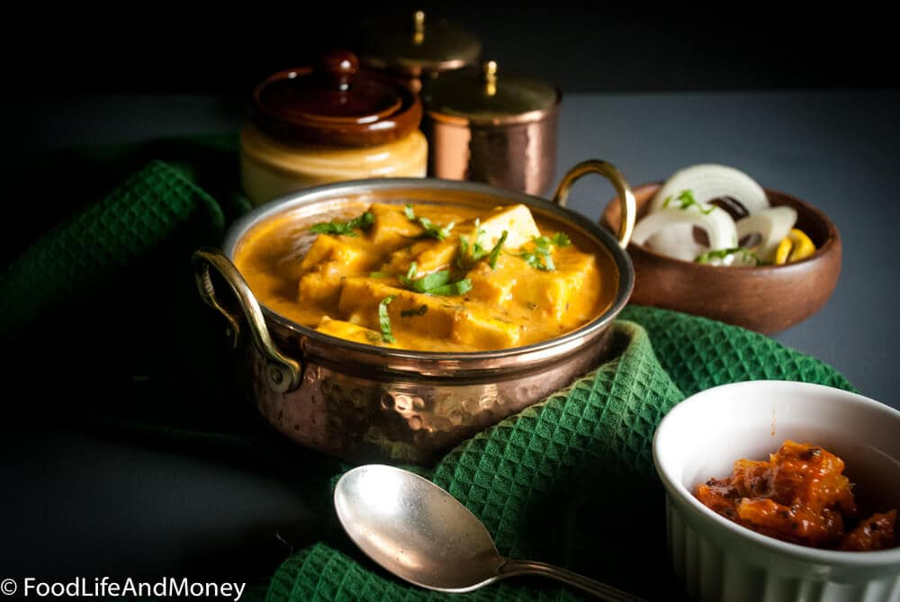 How to make Shahi Paneer | Mild Indian cottage cheese curry recipe