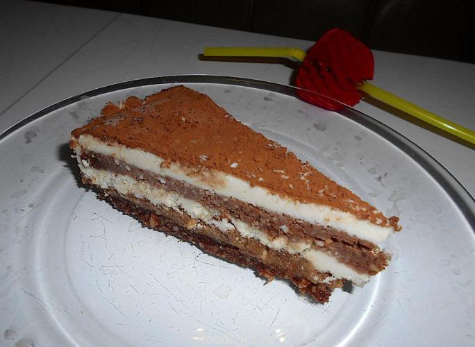 Пирог «Тирамису» без выпечки, без муки, сыроедческий graphic