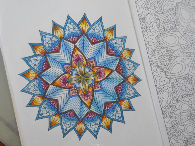 мандалы, раскраски