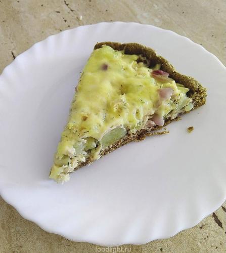Пирог с картошкой и курицей из ржаной муки graphic