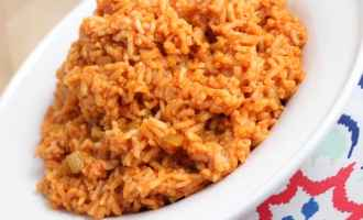 This quick and easy Spanish Rice is a perfect side dish for any Mexican or Spanish dinner. Made with only 5 (or 6) ingredients, it's simple and delicious.