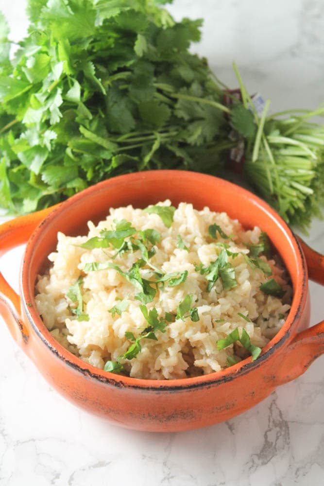 Simple and healthy cilantro lime brown rice.