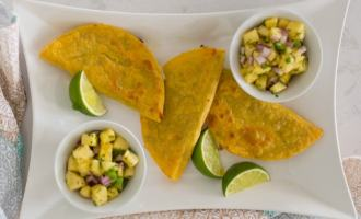 Black bean and avocado rice tacos with pineapple salsa are a meatless meal the whole family will love!