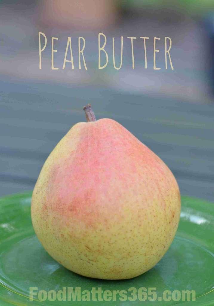 Easy crock pot pear butter