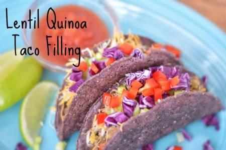 Low Sodium Lentil Quinoa Taco Filling