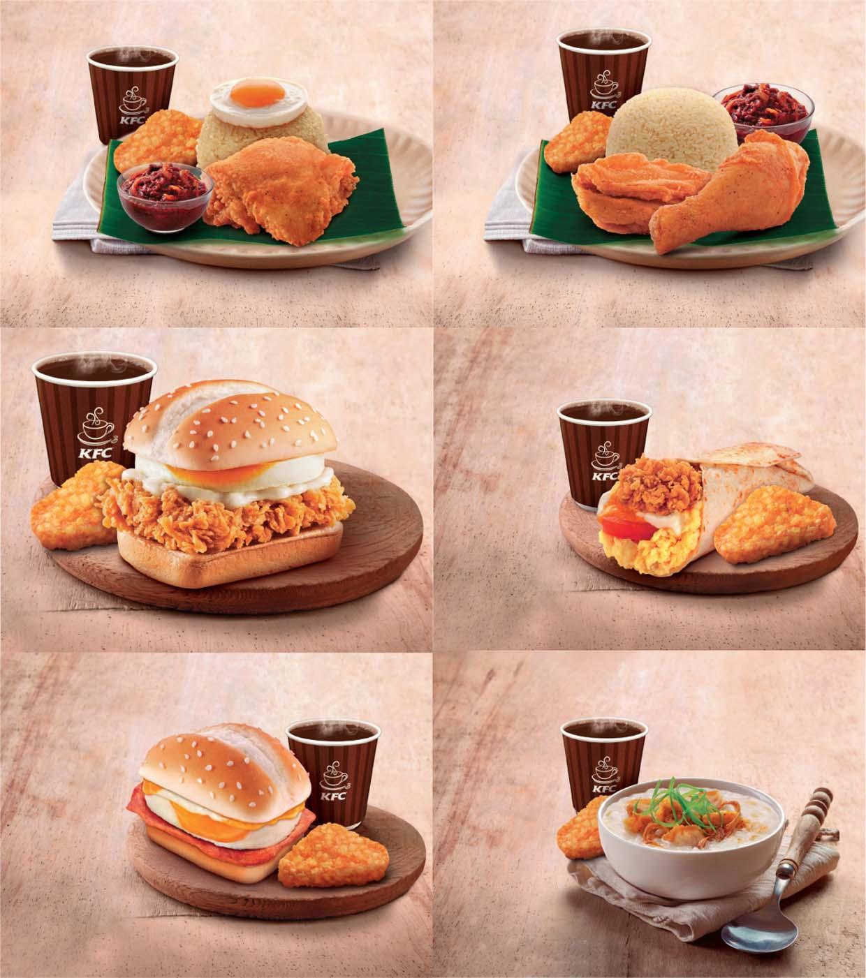 Delicious New Breakfast Range KFC Malaysia FOOD Malaysia