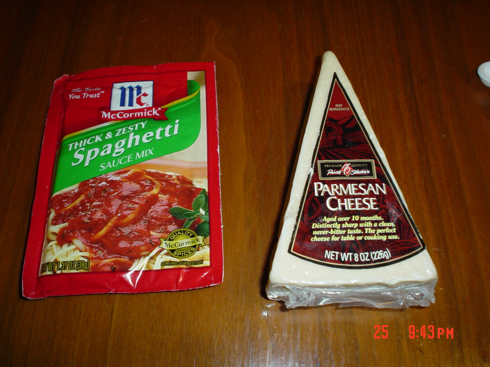 The cheese on the right can make a marked improvement to the packet on the left.