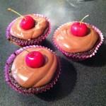 Cherry and Chocolate Cupcakes