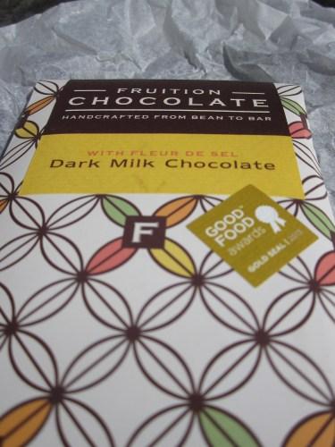 Fruition Dark Milk Chocolate With Fleur De Sel in Wrapper - www.foodnerd4life.com