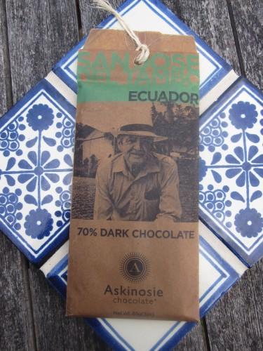 Askinosie San Jose Del Tambo, Ecuador 70% Chocolate - www.foodnerd4life.com
