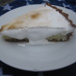 Marshmallow Fluff Topped Key Lime Pie