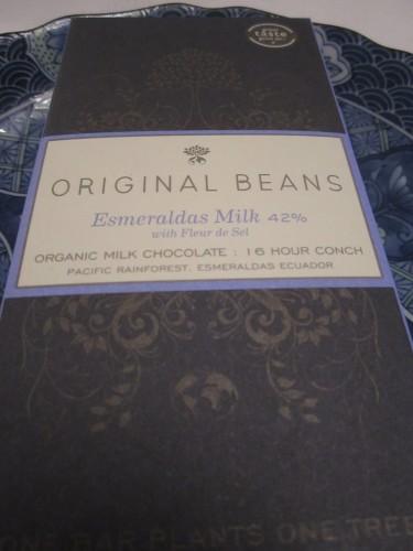 Original Beans Esmeraldas Milk 42% and Fleur de Sel Chocolate Bar - www.foodnerd4life.com