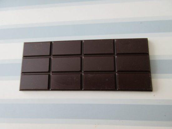 Pitch Dark - Ecuador Fruity 73% Chocolate Bar Unwrapped- www.foodnerd4life.com