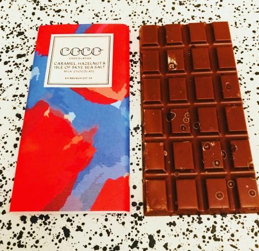 Coco Chocolatier Caramel, Hazelnut, Isle of Skye Salt Chocolate - www.foodnerd4life.com