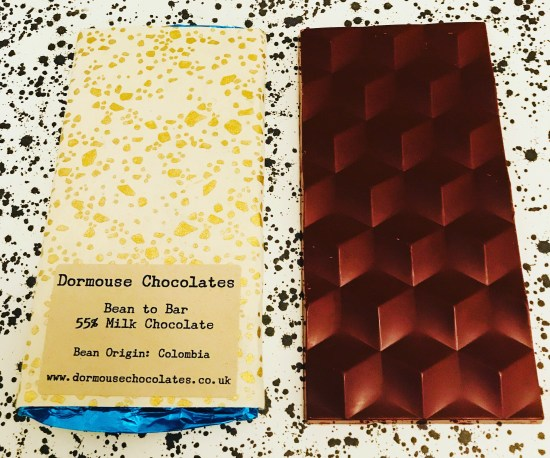 Dormouse Colombia 55% Chocolate Bar - www.foodnerd4life.com