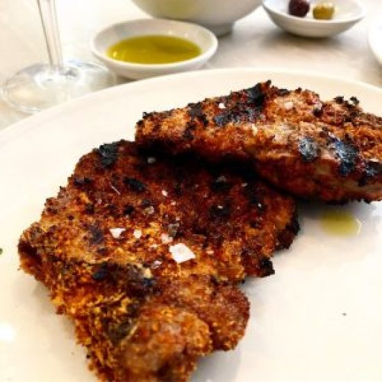 Lamp Chops with Crumbs and Chilli at Bocca Di Lupo, London