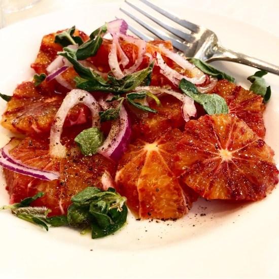 Blood Orange Salad with Fresh Oregano and Red Onion at Bocca Di Lupo, London