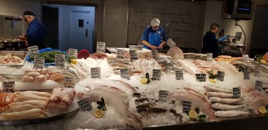 Wet Fish Counter at Severn & Wye Smokery - foodnerd4life