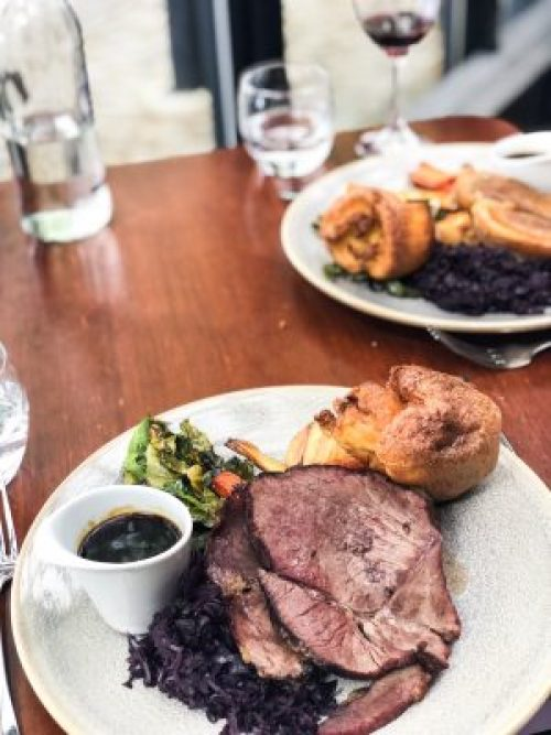 Close up of Beef Sunday Roast at River Grille, The Bristol Hotel