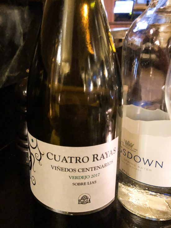 A bottle of Cuatro Rayas Vinedos Centenarios at Hotel du Vin, Bristol