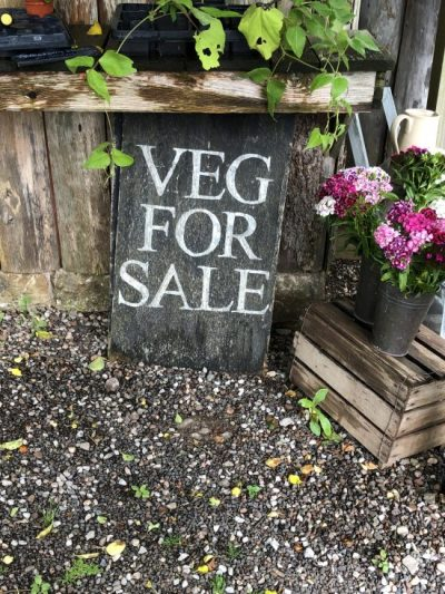 Veg For Sale Sign at Ethicurian Bristol - Best places to eat in Bristol - www.foodnerd4life.com