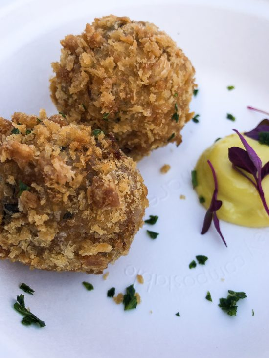 "Bar Douro - ""Alheira"" Smoked Sausage Croquettes - Taste of London 2019 - www.foodnerd4life.com"