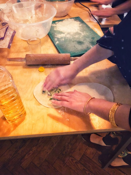 Paratha Making at Pakistani Cookery Class with Migrateful, www.foodnerd4life.com