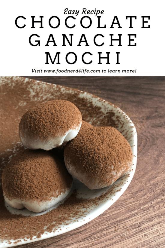 Chocolate Ganache Mochi Recipe Pin