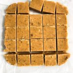 Tray of Cut Brown Butter Fudge - www.foodnerd4life.com