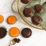 Coating Grapefruit Jaffa Cakes with Chocolate - www.foodnerd4life.com