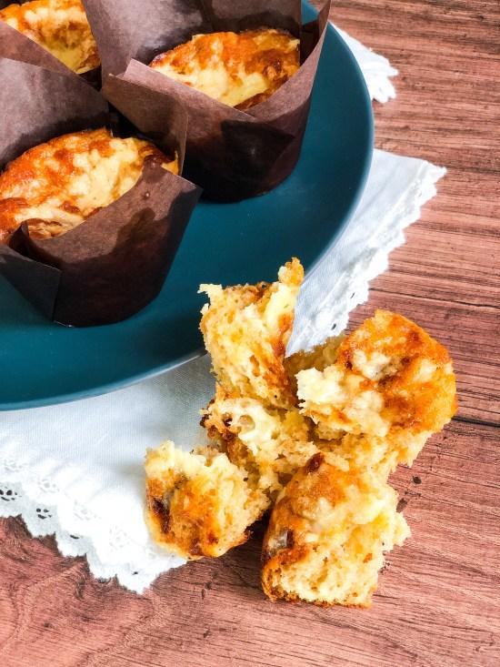 Inside of Cheddar and Marmite Muffins - www.foodnerd4life.com
