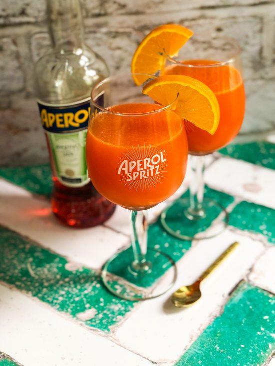 Aperol Spritz Jelly with Aperol Bottle - www.foodnerd4life.com