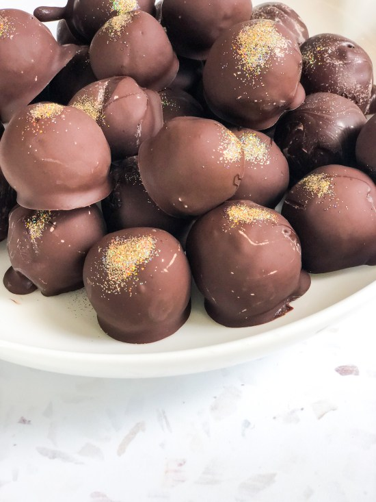 Espresso Chocolate Truffles in a Pile -www.foodnerd4life.com