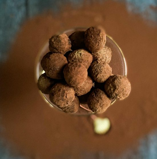 Recipe for Dark and Stormy Cocktail Truffles - www.foodnerd4life.com