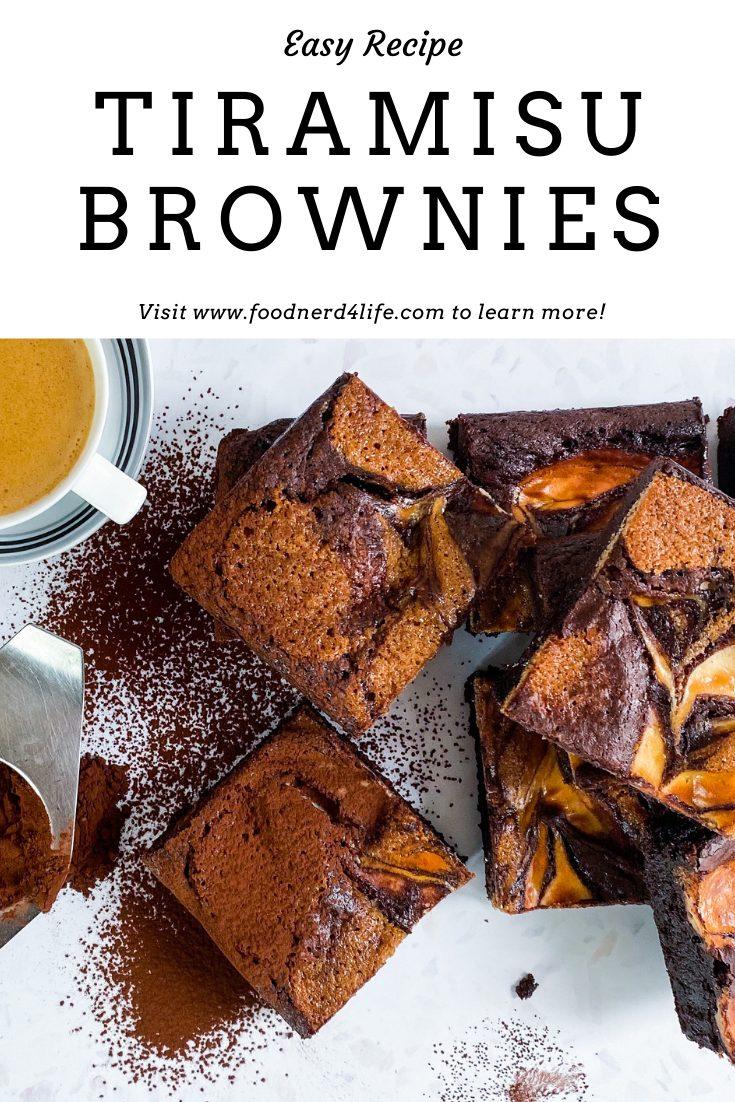 Tiramisu Brownies Recipe Pin