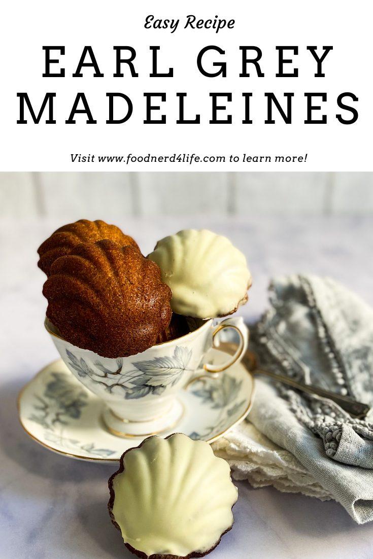 Earl Grey Madeleines Recipe Pin