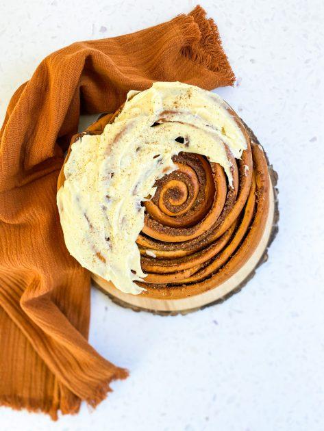 Giant Cinnamon Roll Recipe - www.foodnerd4life.com