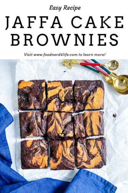 Jaffa Cake Brownie Recipe Pin